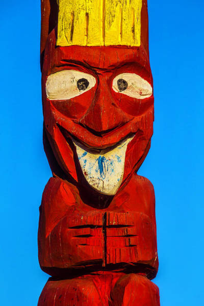 Totem Pole Wall Art - Photograph - Red Totem Pole by Garry Gay