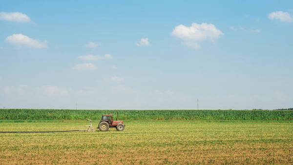 Photograph - Red Tractor by Alexandre Rotenberg