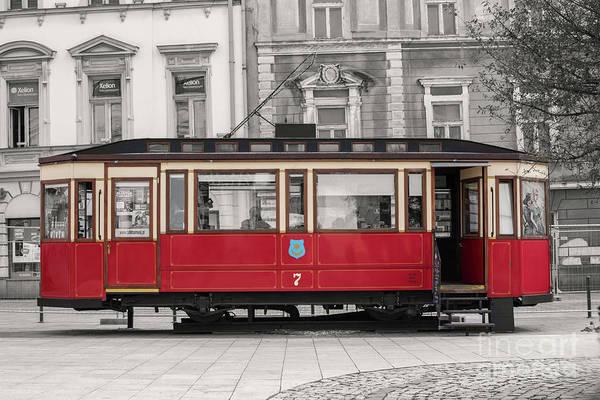 Wall Art - Photograph - Red Tram by Juli Scalzi
