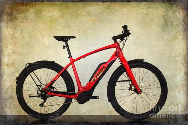 Wall Art - Photograph - Red Trek Bike by Mary Machare
