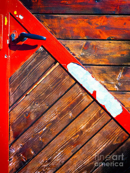 Photograph - Red Triangle On Door by Silvia Ganora