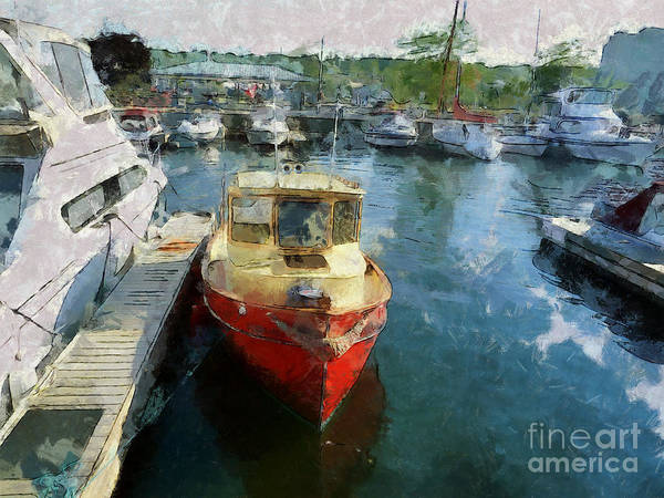 Photograph - Red Tug  by Claire Bull