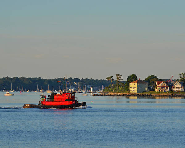 Photograph - Red Tugboat Salem Harbor by Toby McGuire