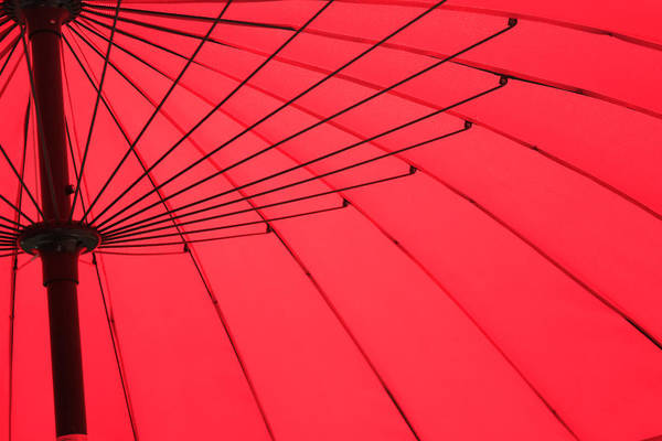 Red Umbrella Abstract Art Print by Tony Grider