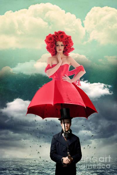 Whimsical Photograph - Red Umbrella by Juli Scalzi