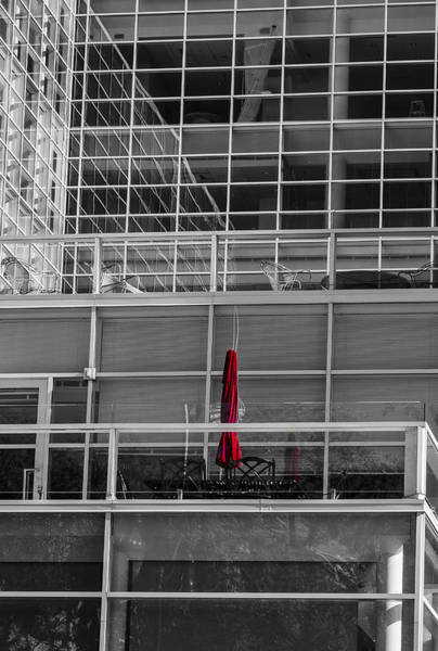 Photograph - Red Umbrella - Madison Wisconsin by Steven Ralser