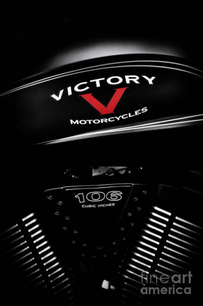 Victory Motorcycle Photograph - Red V by Tim Gainey