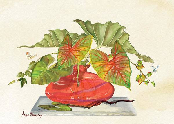 Painting - Red Vase by Anne Beverley-Stamps