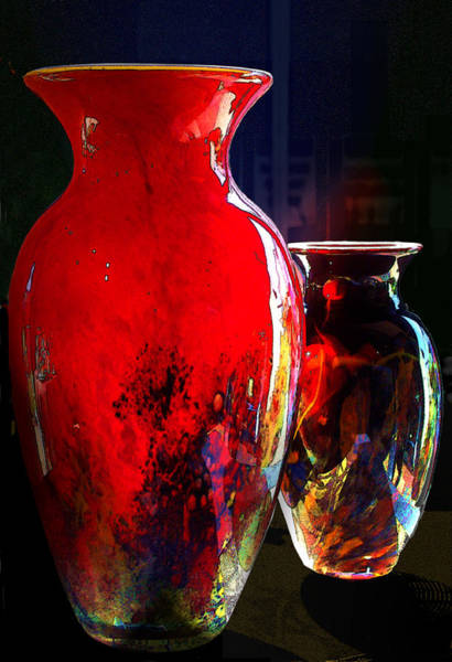 Photograph - Red Vase by Paul Wear
