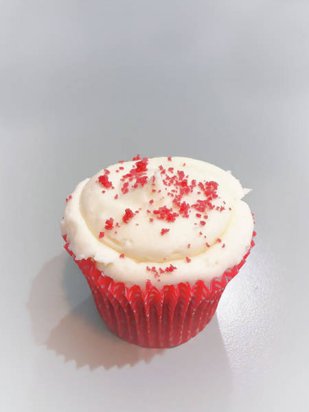 Wall Art - Photograph - Red Velvet Cupcake by Tom Gowanlock
