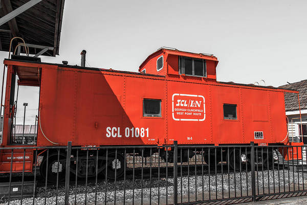 Photograph - Red Vintage Caboose Highlighted by Doug Camara