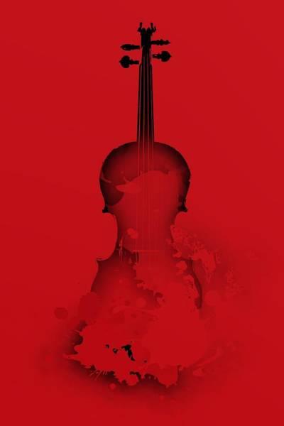 Digital Art - Red Violin by Alberto RuiZ