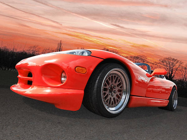 Photograph - Red Viper Rt10 by Gill Billington
