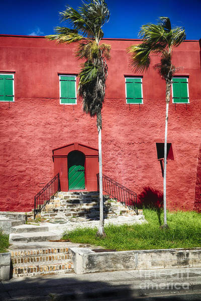 Wall Art - Photograph - Red Walls And Green Shutters by George Oze