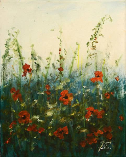 Special Offer Painting - Red Weed by Dagmara Czarnota