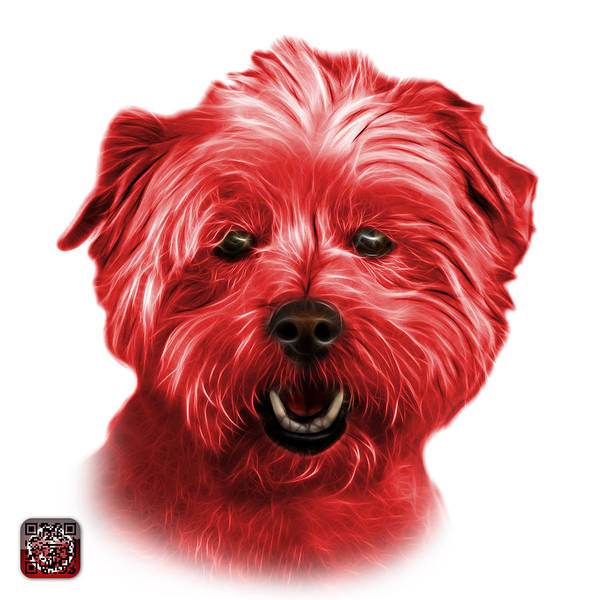 Mixed Media - Red West Highland Terrier Mix - 8674 - Wb by James Ahn
