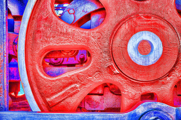Photograph - Red Wheel #1205 by Andrey  Godyaykin