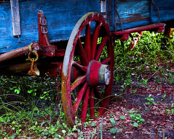 Photograph - Red Wheel by Christopher Holmes
