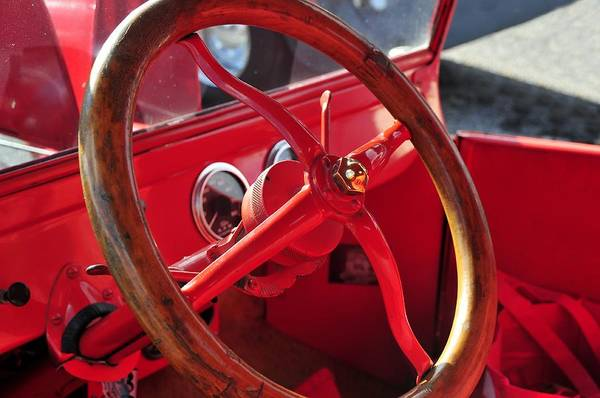 Antic Photograph - Red Wheel by David Lee Thompson