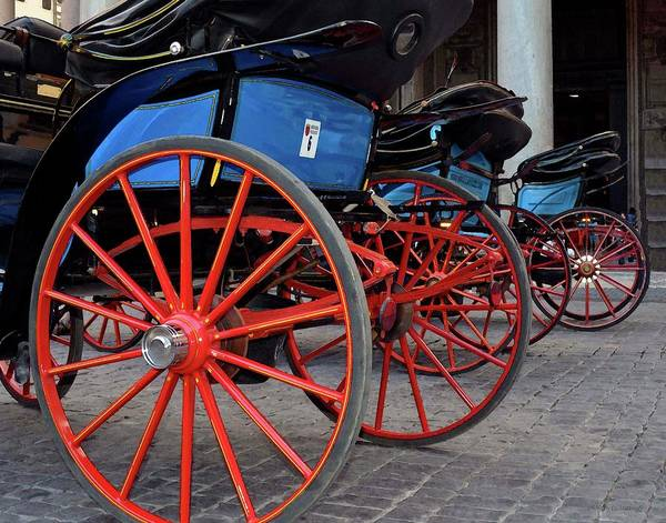 Photograph - Red Wheels At Pantheon by Coleman Mattingly