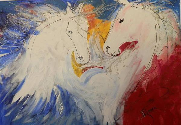 Elwood Blues Painting - Red White And Blue by Jann Elwood