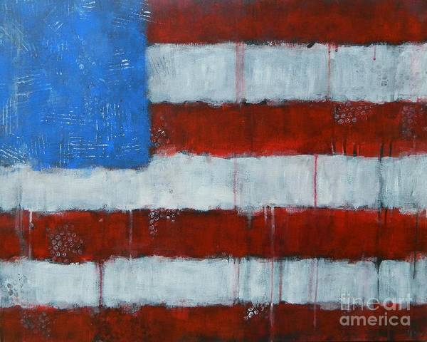 Wall Art - Painting - Red, White, And Blue by Kate Marion Lapierre