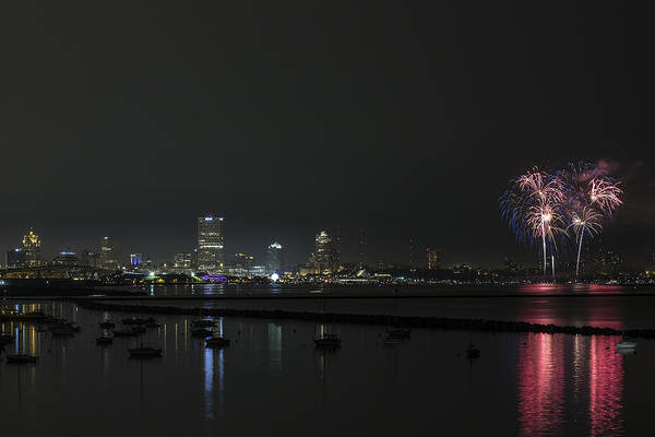 Summerfest Photograph - Red White And Blue Mke 2015 by CJ Schmit