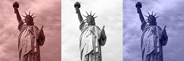 Photograph - Red White And Blue Statue Of Liberty by Toby McGuire