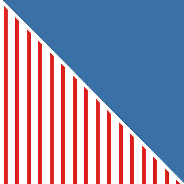 Flag Wall Art - Digital Art - Red White And Blue Triangles by Linda Woods
