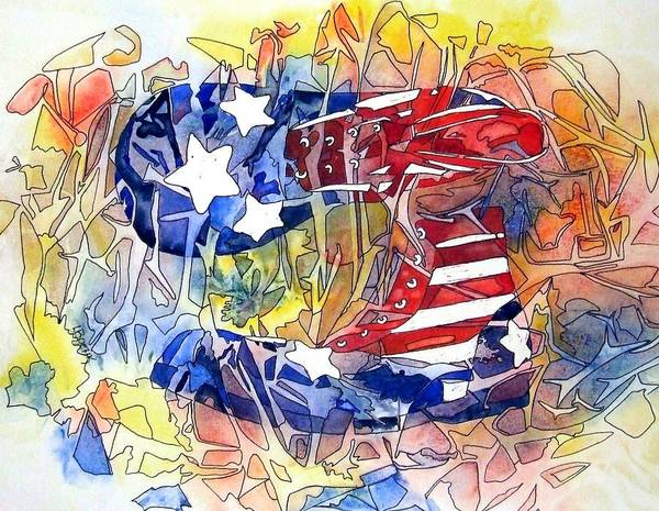 Painting - Red White And Blues by Greg and Linda Halom