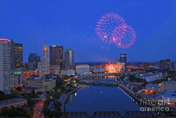 Photograph - D21l-64 Red White And Boom Photo by Ohio Stock Photography