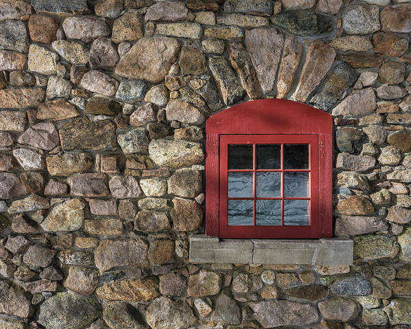 Photograph - Red Window by Brad Wenskoski