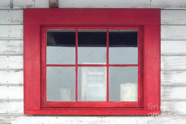 Mine Photograph - Red Window by Paul Quinn