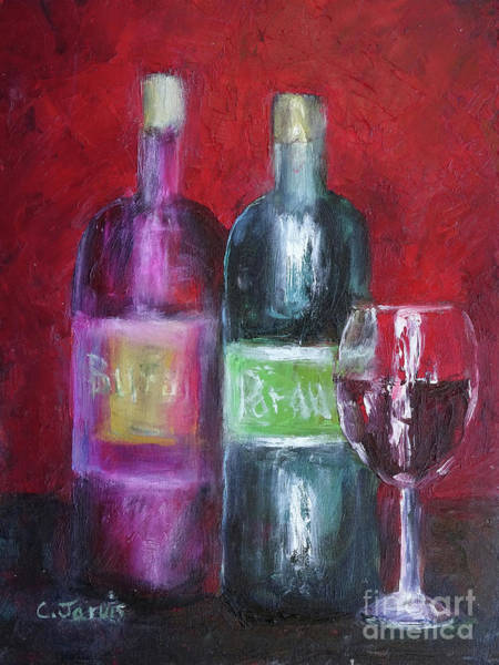 Painting - Red Wine Art by Carolyn Jarvis