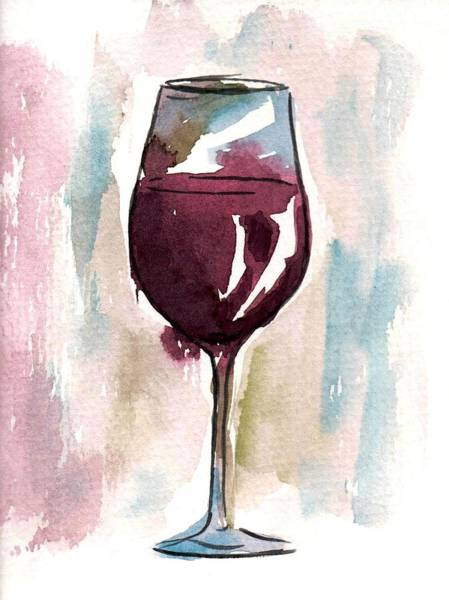 Vino Painting - Red Wine by Halley Philips