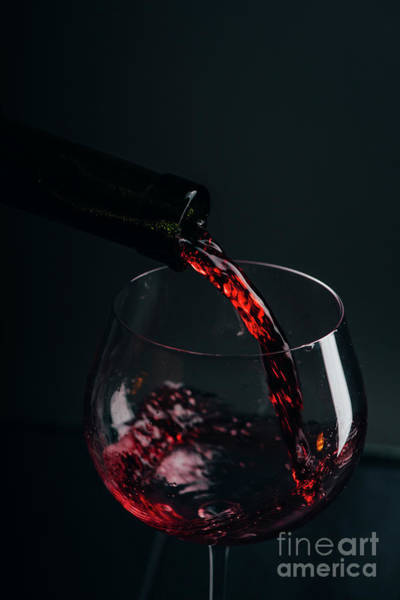 Pouring Photograph - Red Wine Pouring by Jelena Jovanovic