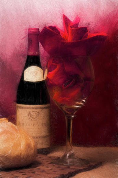 Bread Wall Art - Photograph - Red Wine by Tom Mc Nemar