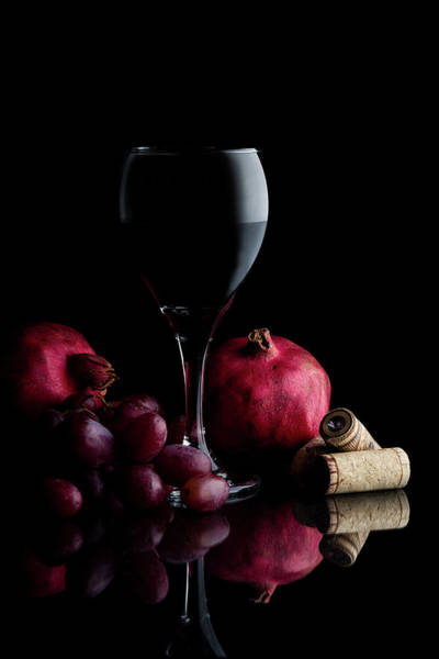Wall Art - Photograph - Red Wine With Fruit by Tom Mc Nemar