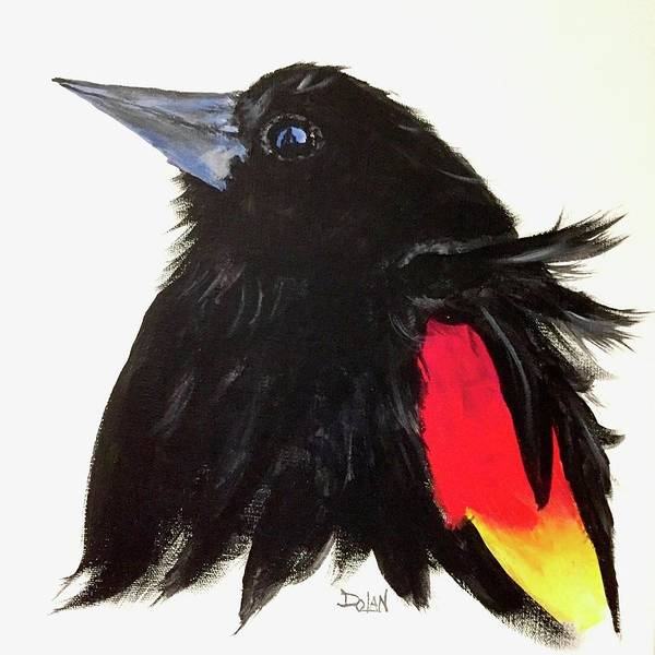 Painting - Red Winged Blackbird by Pat Dolan