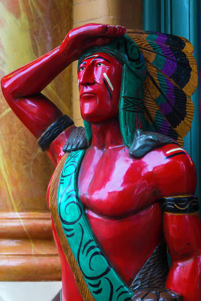 Wall Art - Photograph - Red Wooden Indian by Garry Gay