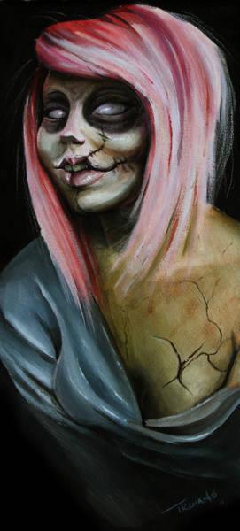 Undead Wall Art - Painting - Red Zombie by Matt Truiano