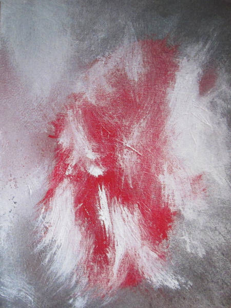 Psycho Painting - Redbirds Demise by John Krakora