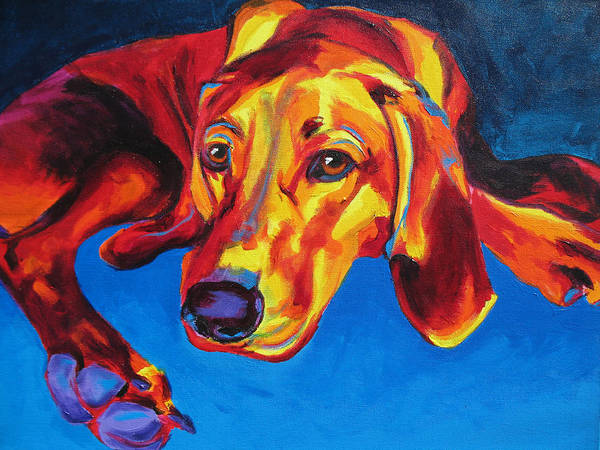 Wall Art - Painting - Redbone Coonhound by Alicia VanNoy Call