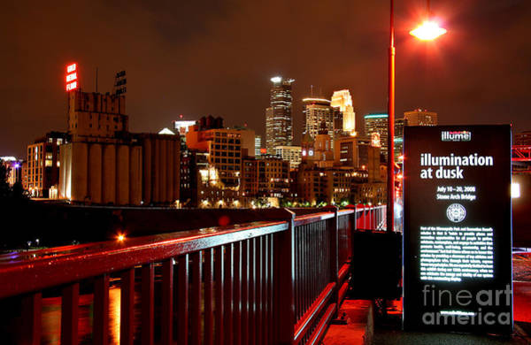 Wall Art - Photograph - Redbull Illume Minneapolis Stone Arch Bridge by Wayne Moran