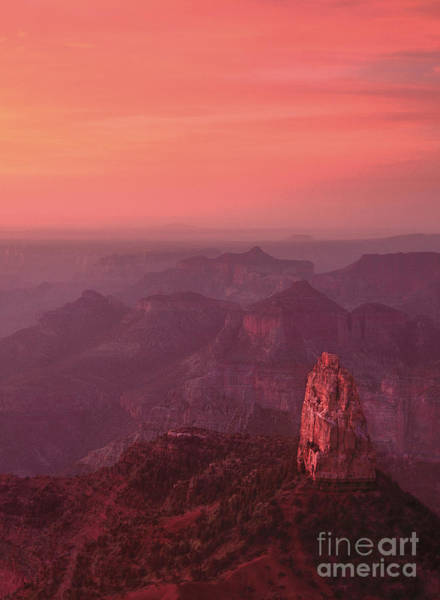 Photograph - Reddish Dawn Mount Hayden Point Imperial North Rim Grand Cany by Dave Welling