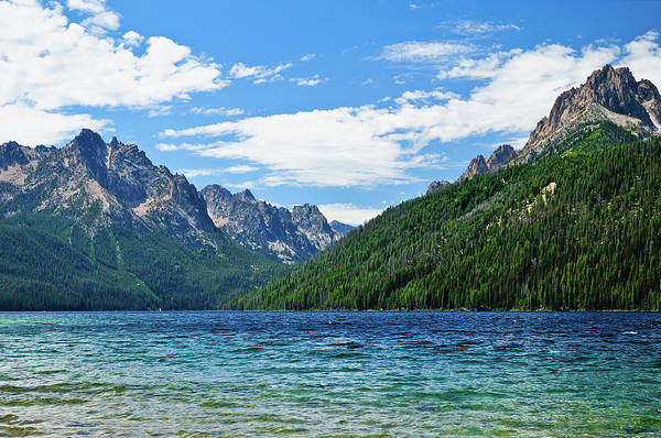 Art Print featuring the photograph Redfish Lake by Greg Norrell