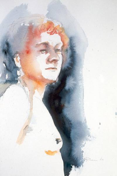 Painting - Redhead #1 by Barbara Pease