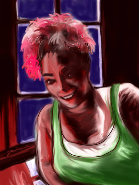 Painting - Redhead by Jean Pacheco Ravinski