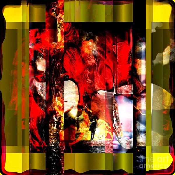 Digital Art - Redhead by John Rizzuto