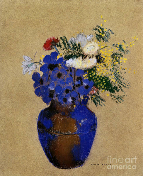 Photograph - Redon: Vase Of Flowers by Granger